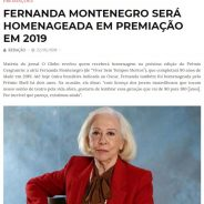 Fernanda Montenegro será homenageada em premiação em 2019