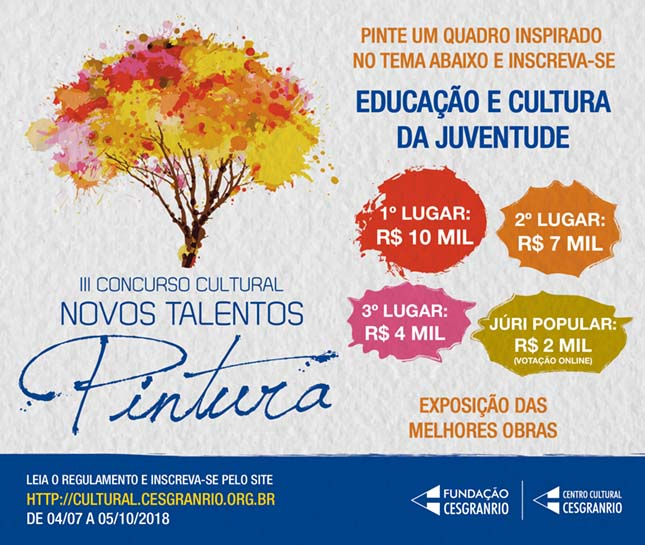 3º Concurso Cultural Novos Talentos da Pintura (2018) - Centro Cultural Cesgranrio