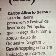 Curtinhas – Jornal O GLobo (03-07-2018)