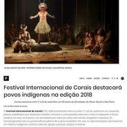 Festival Internacional de Corais destacará povos indígenas na edição 2018