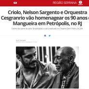 Criolo, Nelson Sargento e Orquestra Cesgranrio vão homenagear os 90 anos da Mangueira em Petrópolis, no RJ