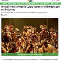 Festival Internacional de Corais começa com homenagem aos indígenas