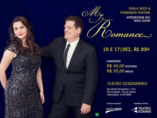 Carla Rizzi e Fernando Portari - My Romance - Teatro Cesgranrio