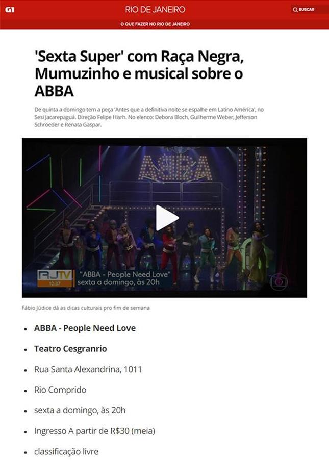 'Sexta Super' com Raça Negra, Mumuzinho e musical sobre o ABBA