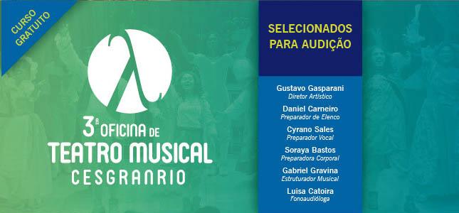 3ª Oficina de Teatro Musical Cesgranrio – 2019