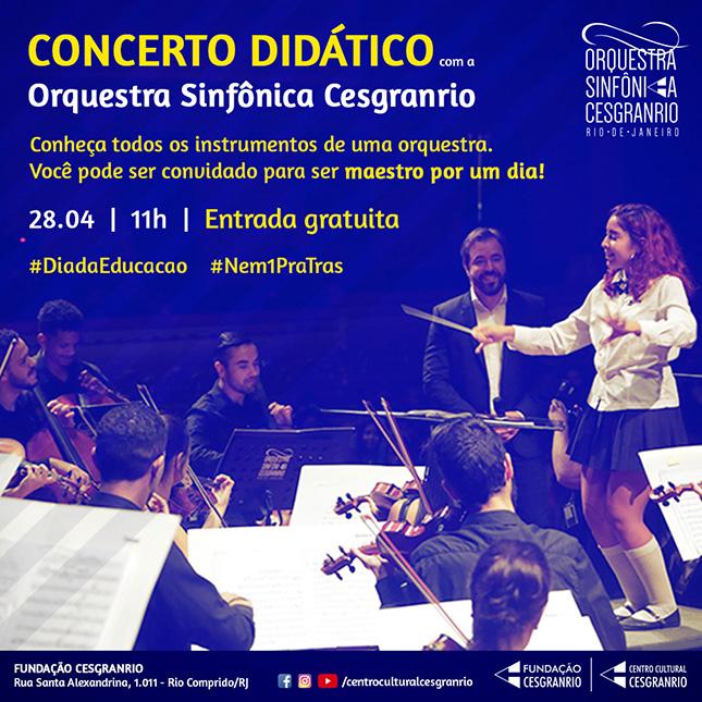 Fundação Cesgranrio promove concerto didático para comemorar o Dia Mundial da Educação