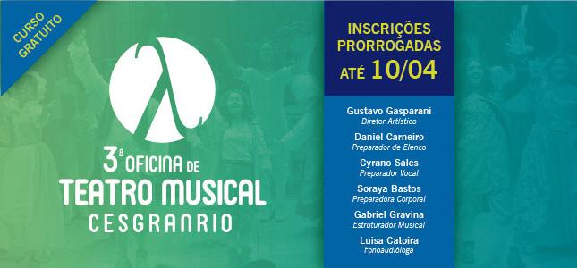 3ª Oficina de Teatro Musical Cesgranrio – 2018