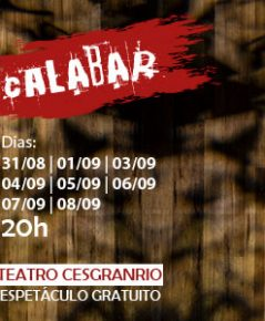 """Gustavo Gasparani dirige """"Calabar"""" com atores da 3ª Oficina de Teatro Musical Cesgranrio"""